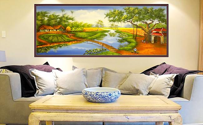 tranh sơn dầu đẹp treo phòng khách