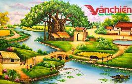 Tranh Sơn Dầu Phong Cảnh Đồng Quê, Làng Quê, Quê Hương Việt Nam